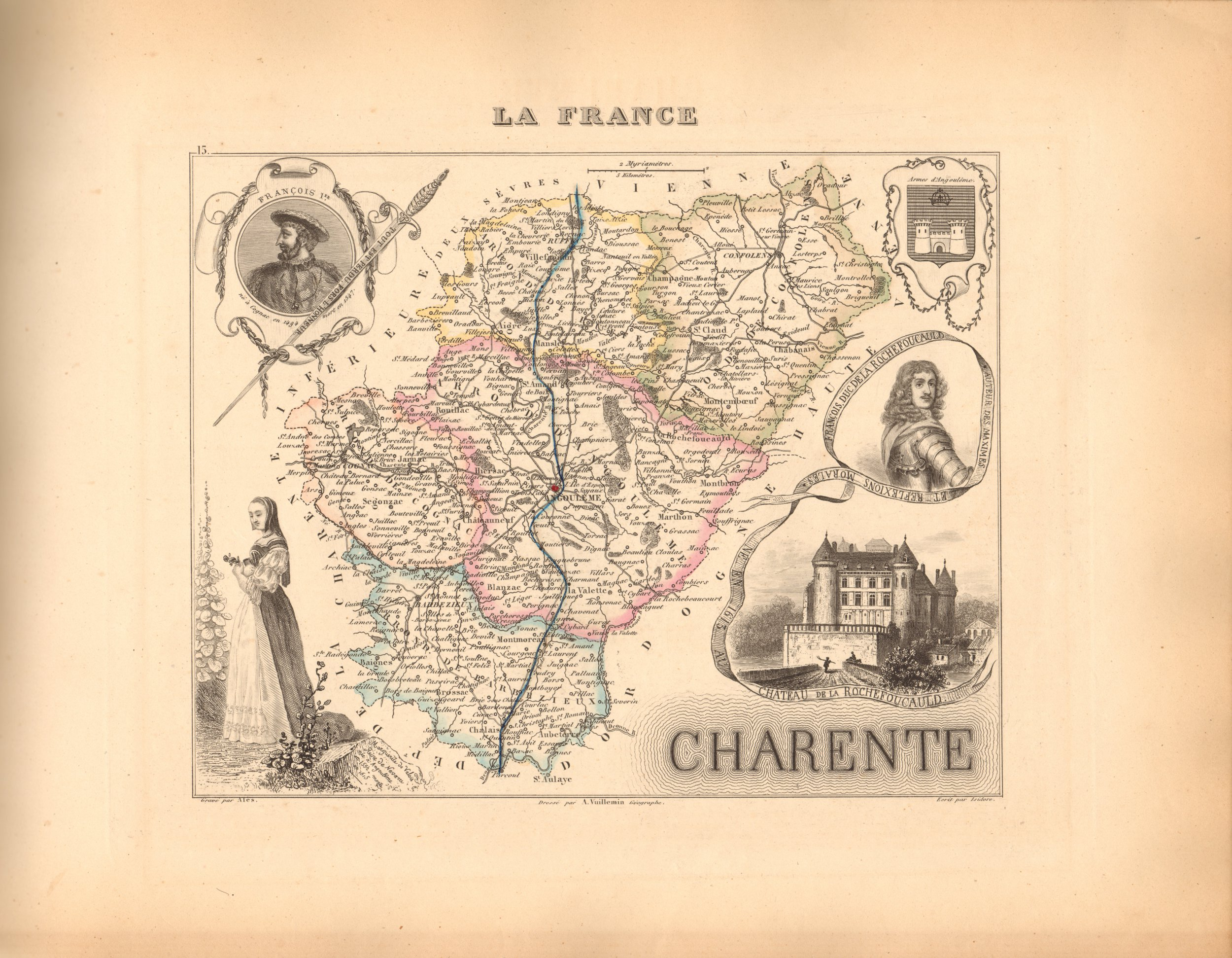 Charente - French Department Map