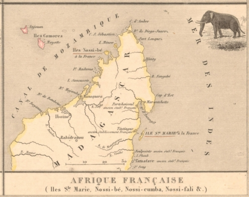 Colonies - Afrique Francaise - French Atlas Map
