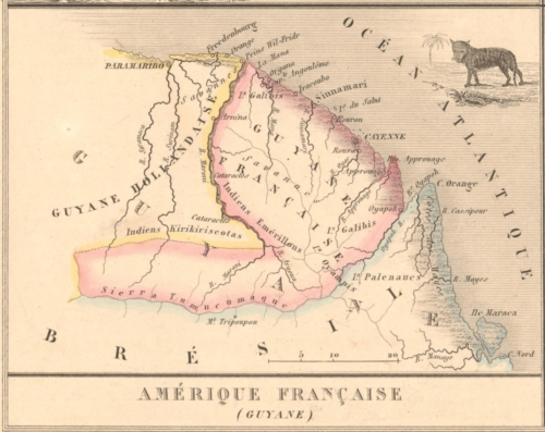 Colonies - Amerique Francaise - Guyane (Guyane) French Atlas Map