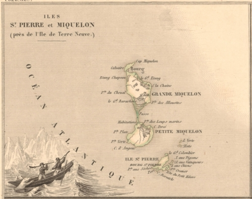 Colonies - Iles St Pierre et Miquelon - French Atlas Map