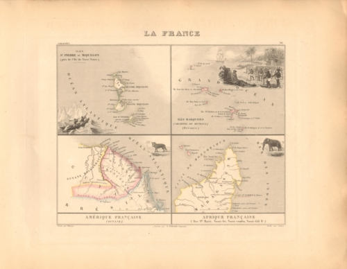 La France Colonies - French Atlas Map