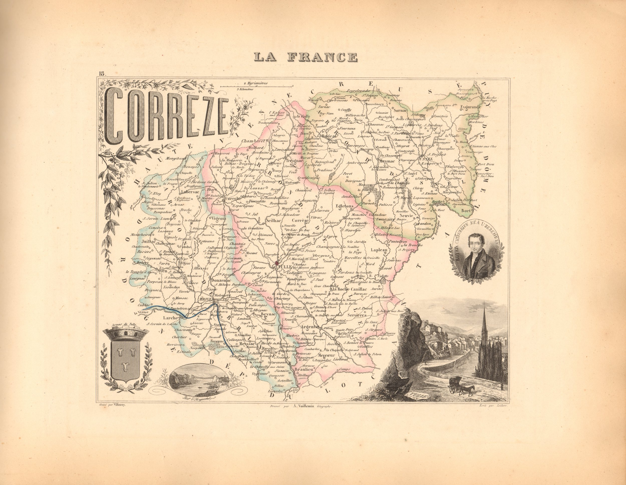 Correze - French Department Map