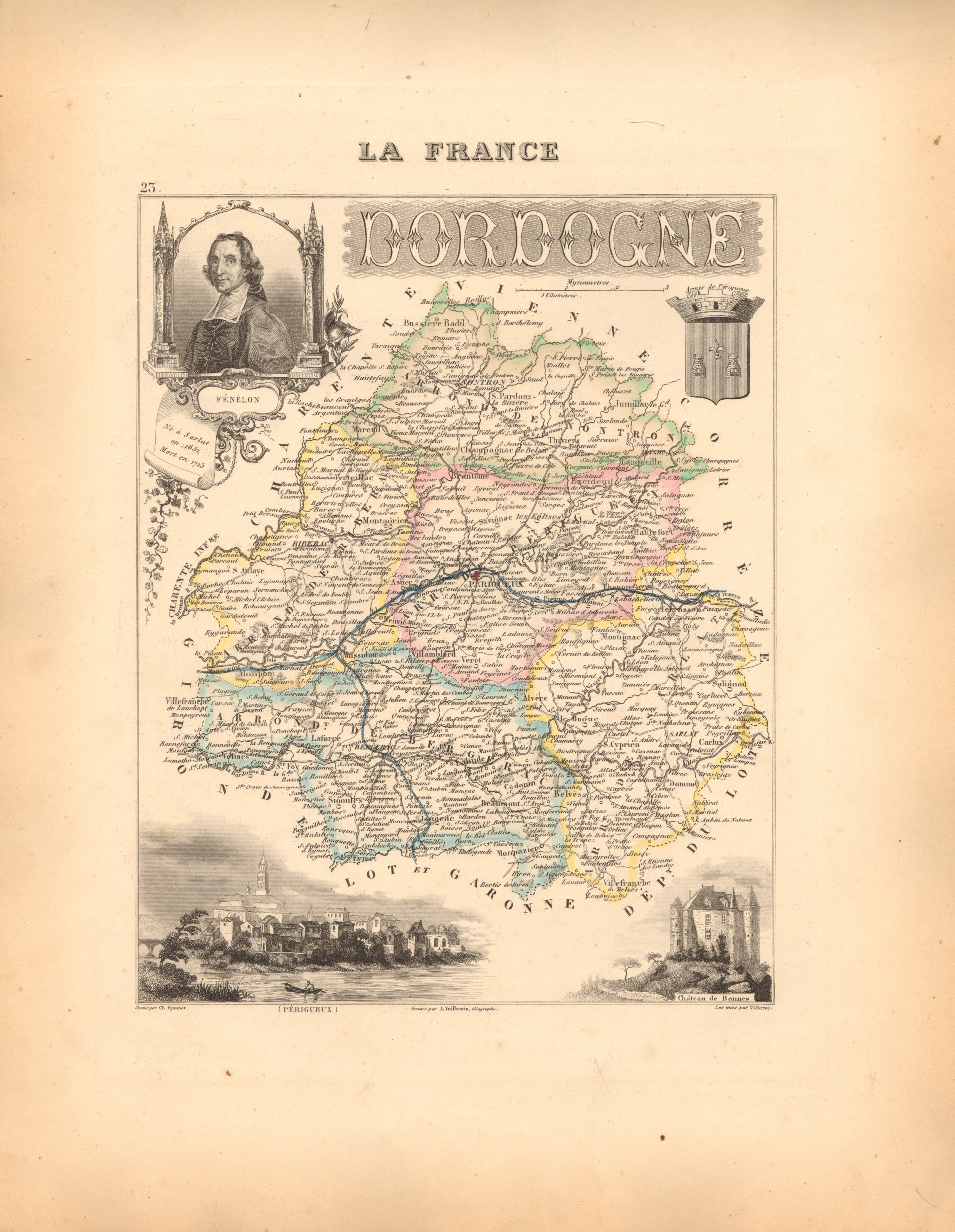 Dordogne - French Department Map