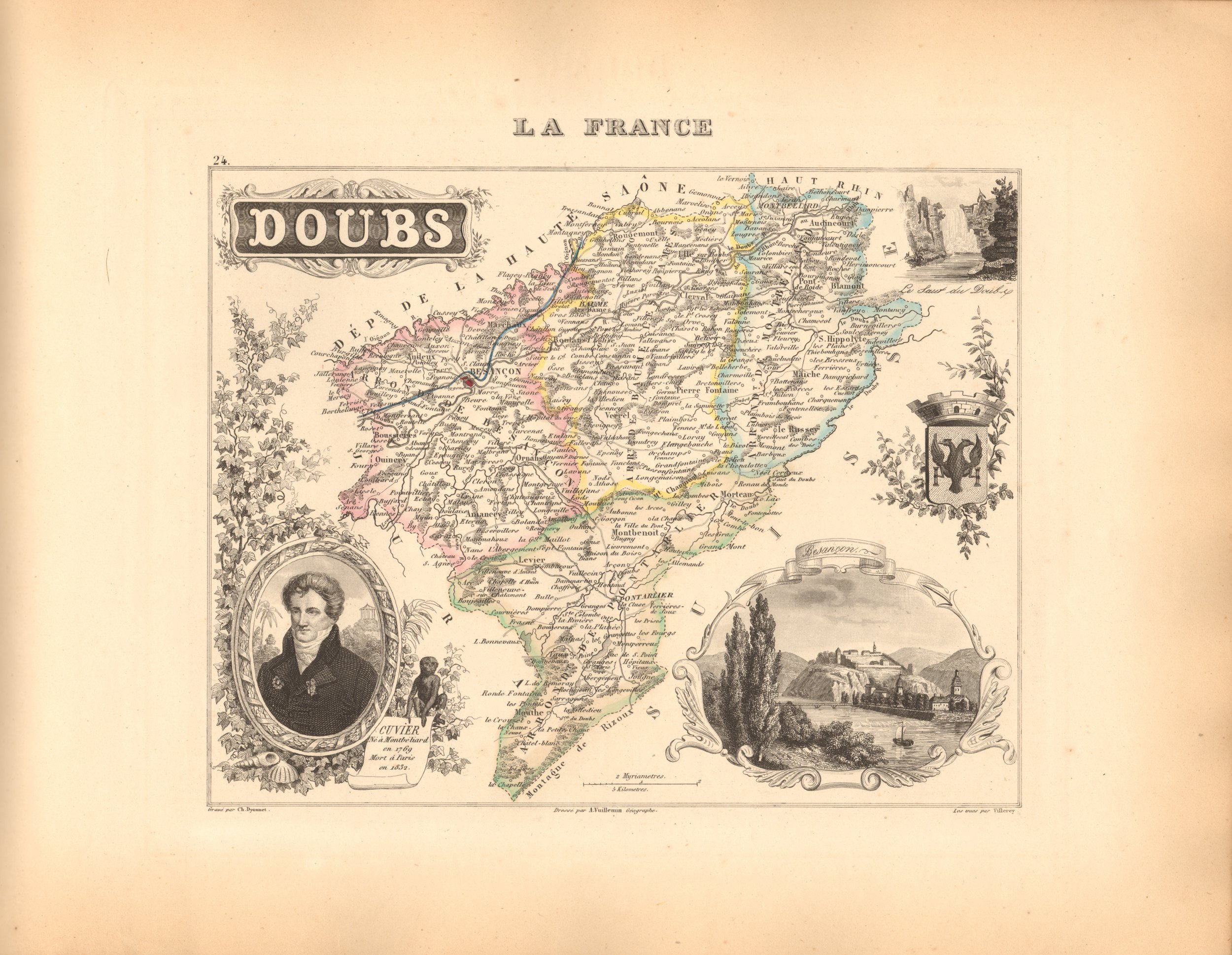 Doubs - French Department Map