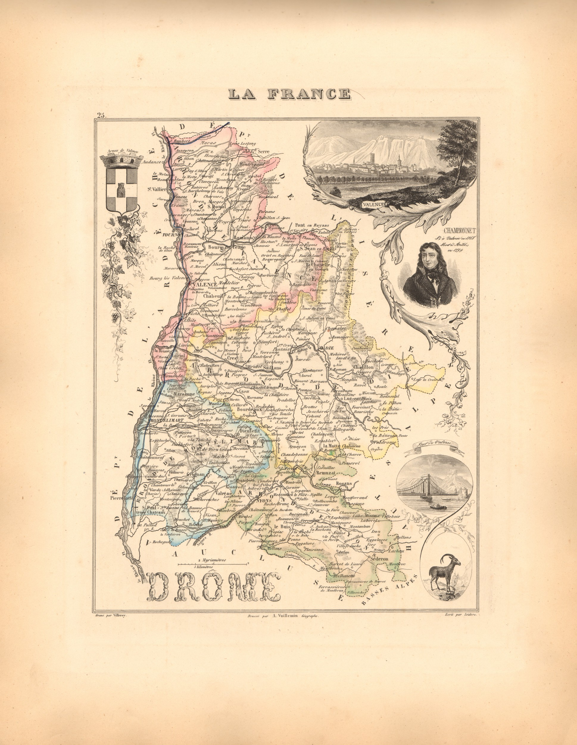 Drome - French Department Map