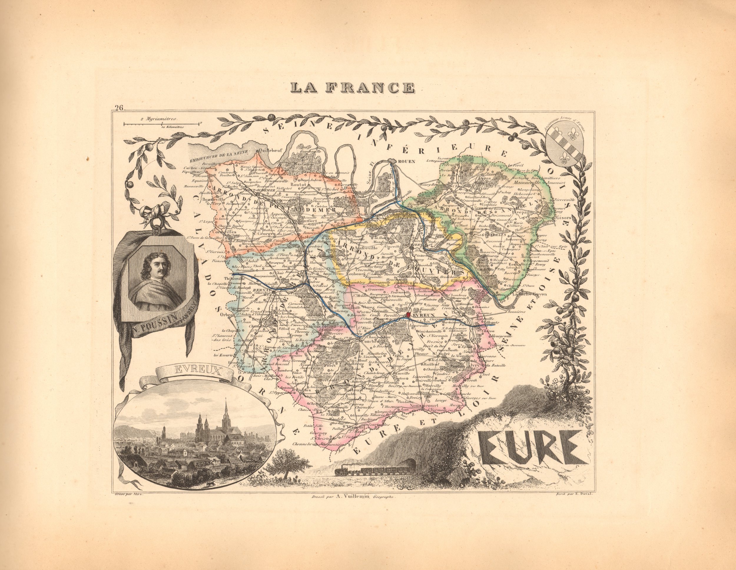 Eure - French Department Map