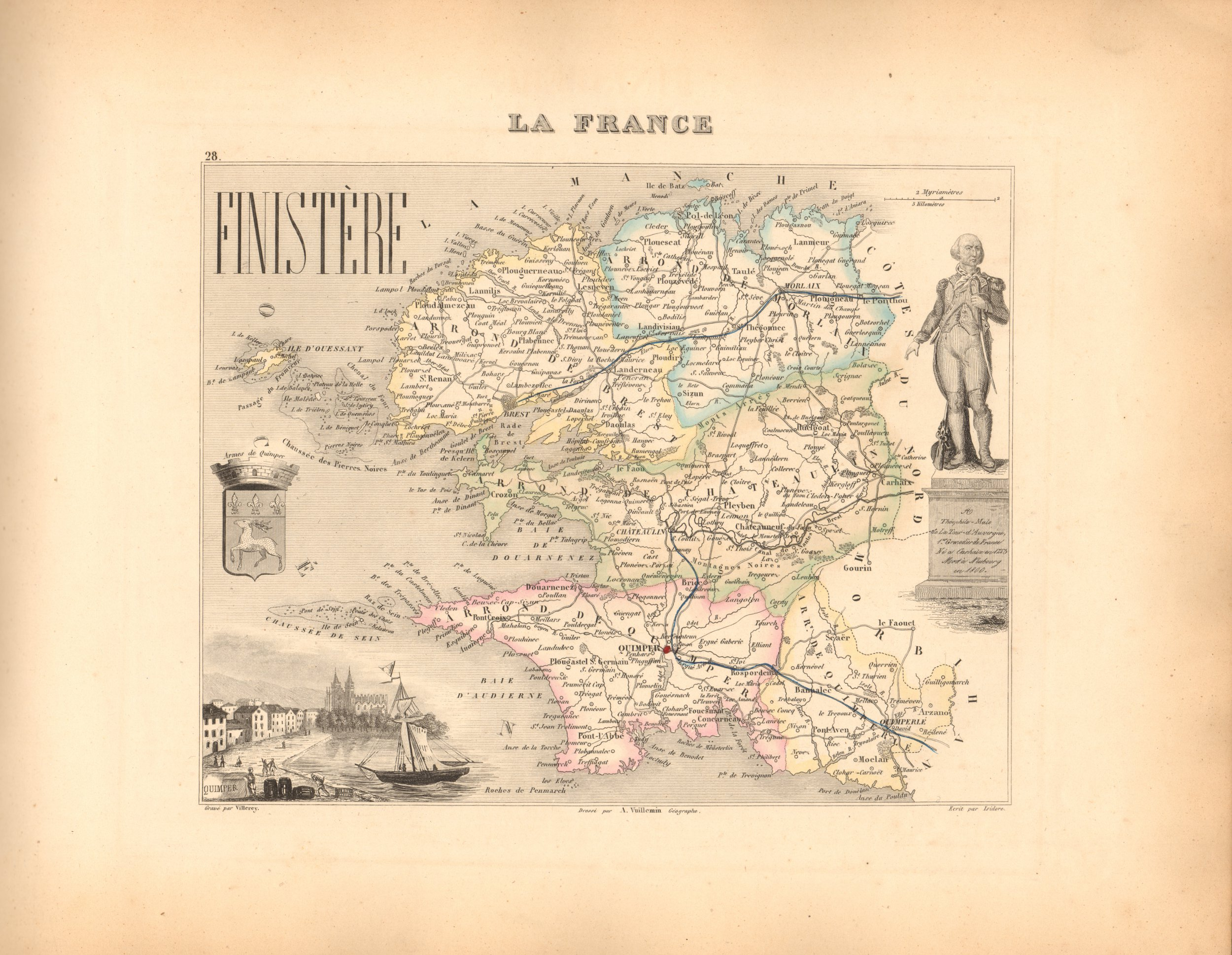 Finistere - French Department Map