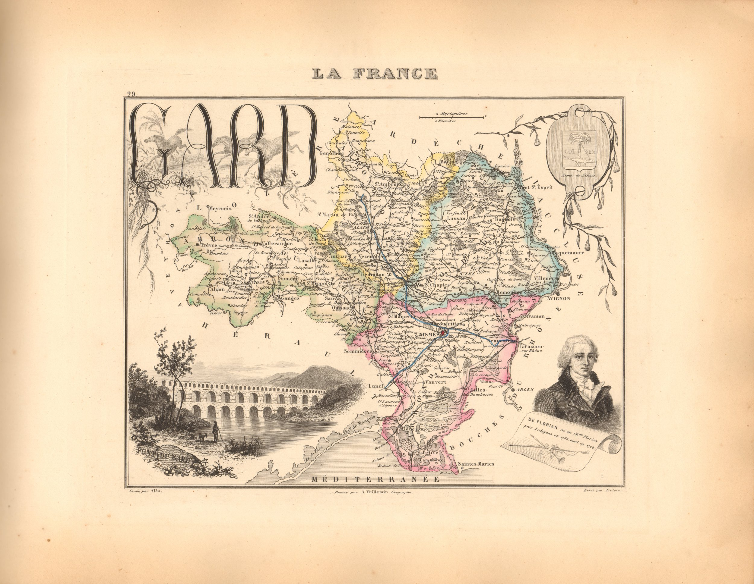 Gard - French Department Map