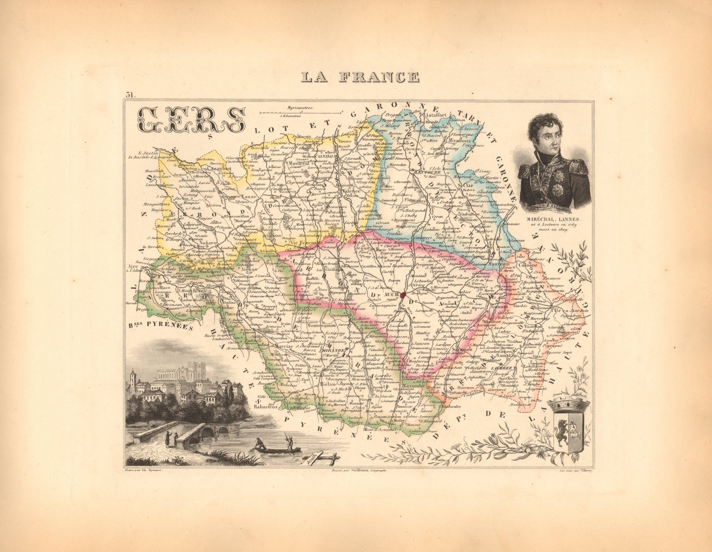 Gers - French Department Map