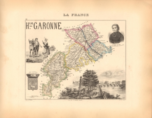 Haute Garonne - French Department Map