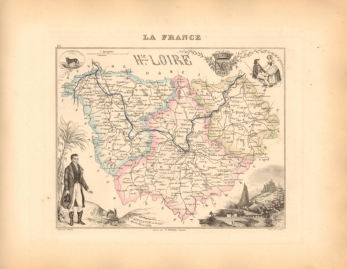 Haute Loire - French Department Map