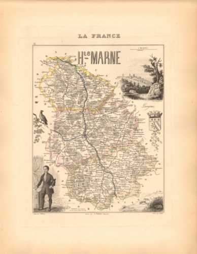Haute Marne - French Department Map