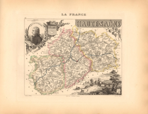 Haute Saone - French Department Map