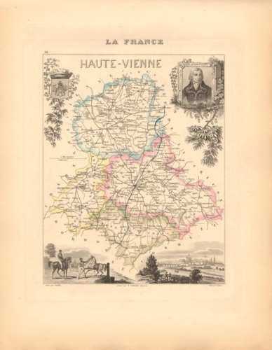 Haute Vienne - French Department Map