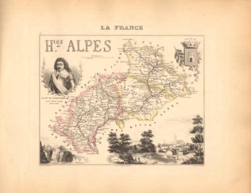 Hautes Alpes - French Department Map