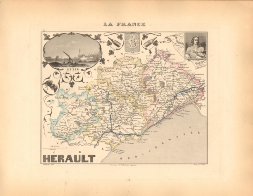Herault - French Department Map