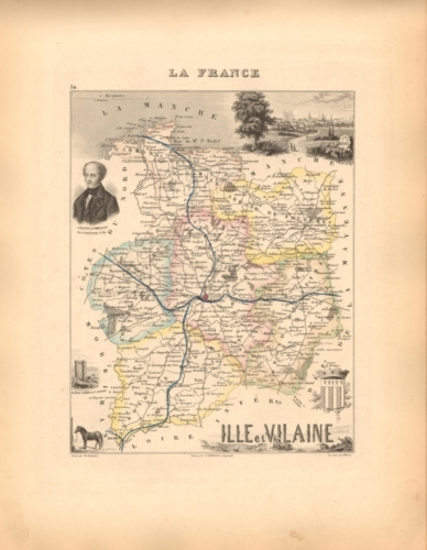 Ille et Vilaine - French Department Map
