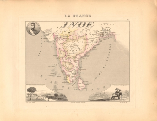 Inde (India) French Atlas Map