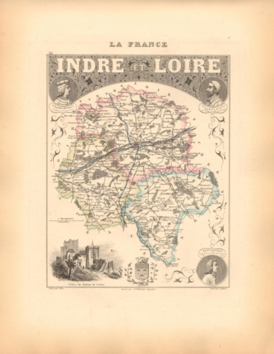 Indre et Loire - French Department Map