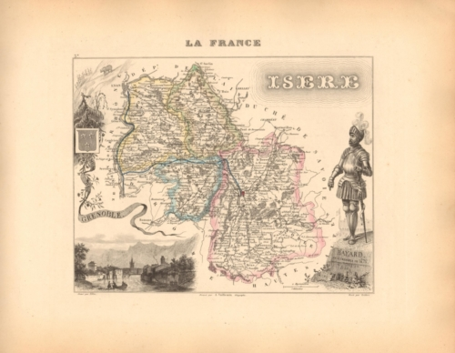 Isere - French Department Map