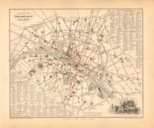 Itineraire des Omnibus dans Paris - Paris Bus Routes