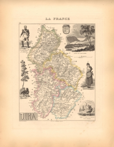 Jura - French Department Map