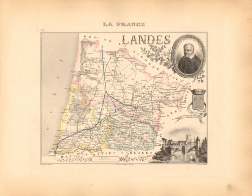 Landes - French Department Map