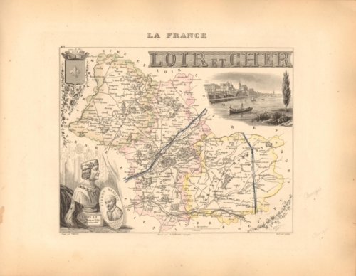 Loir et Cher - French Department Map