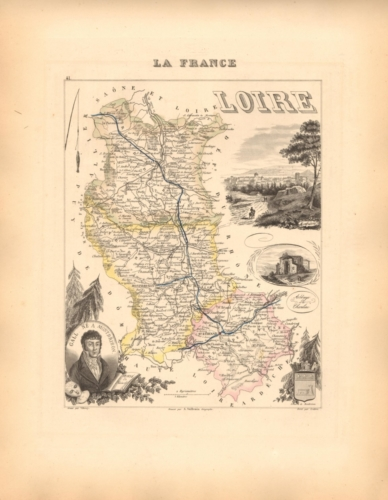 Loire - French Department Map