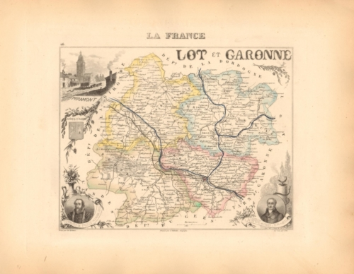Lot et Garonne - French Department Map