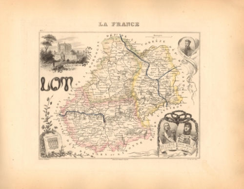 Lot - French Department Map