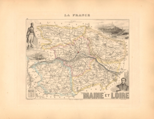 Maine et Loire - French Department Map
