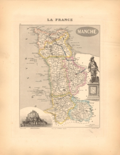 Manche - French Department Map