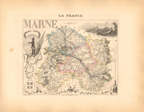 Marne - French Department Map