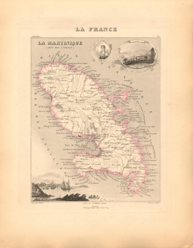 Martinique - French Department Map