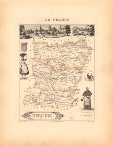 Mayenne - French Department Map