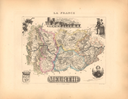 Meurthe - French Department Map