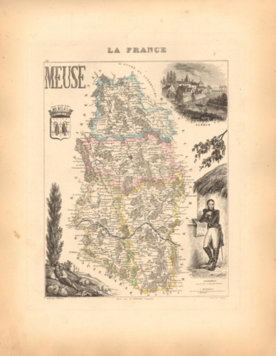 Meuse - French Department Map