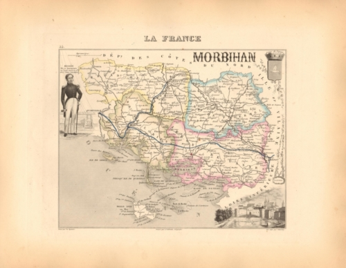 Morbihan - French Department Map