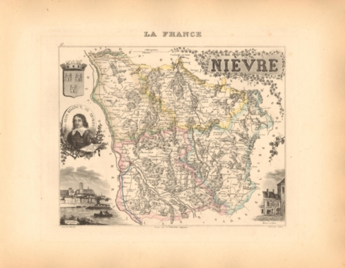 Nievre - French Department Map
