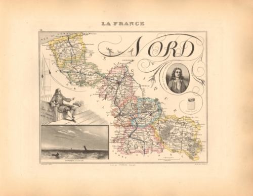 Nord - French Department Map