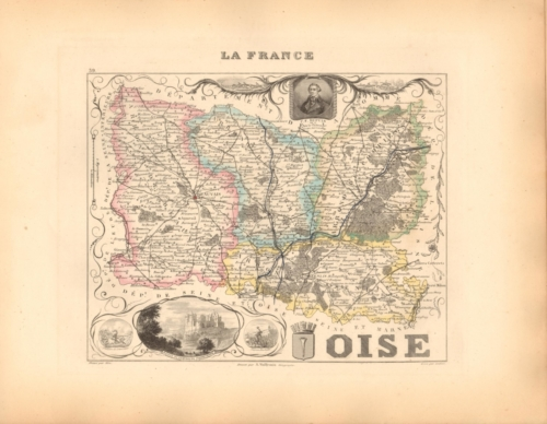 Oise - French Department Map