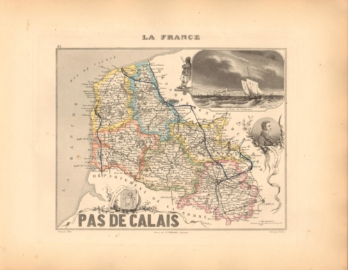 Pas de Calais - French Department Map