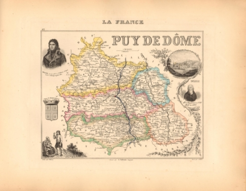 Puy de Dome - French Department Map