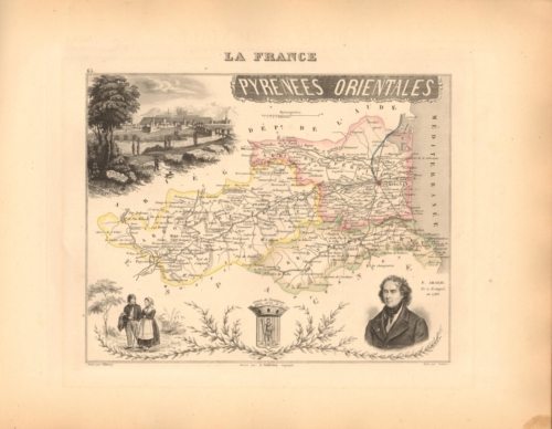 Pyrenees Orientales - French Department Map