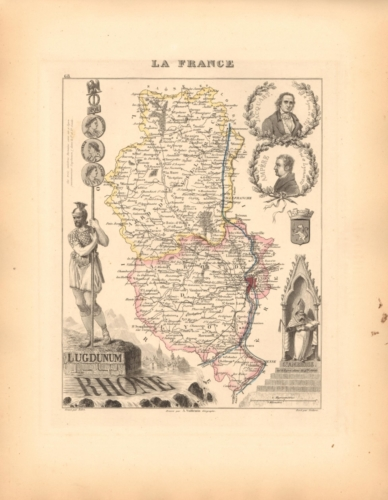 Rhone - French Department Map