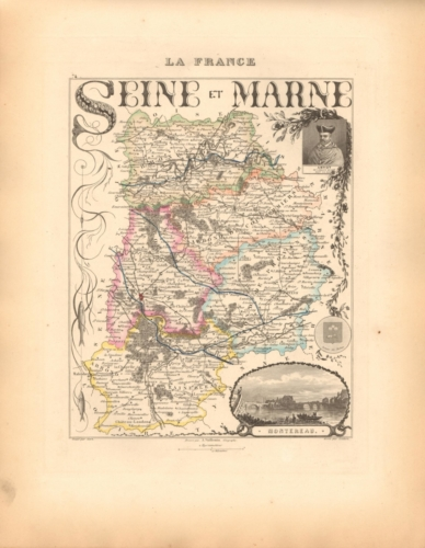 Seine et Marne - French Department Map