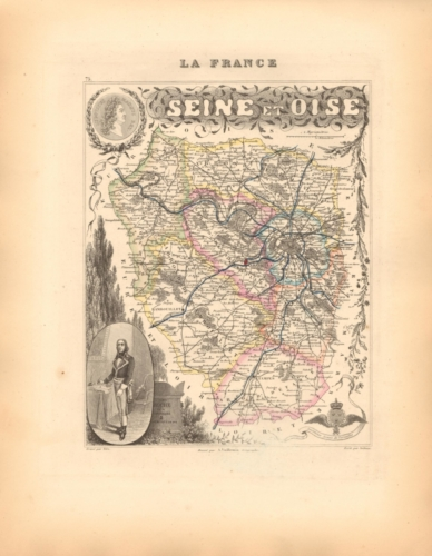 Seine et Oise - French Department Map