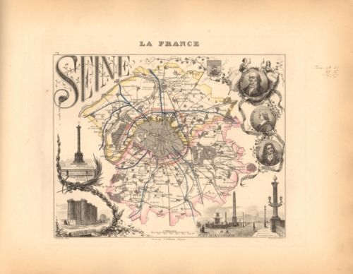 Seine - French Department Map