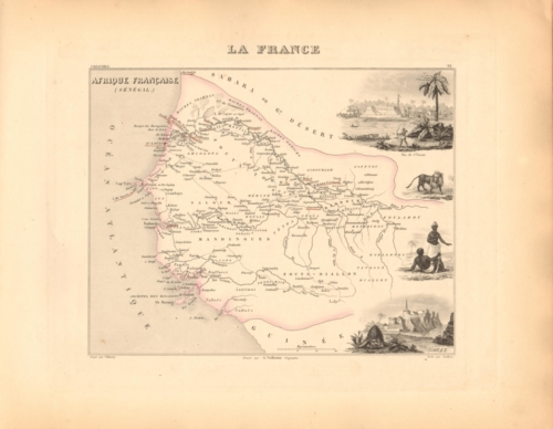 Afrique Francaise - Senegambie (Senegal) French Atlas Map